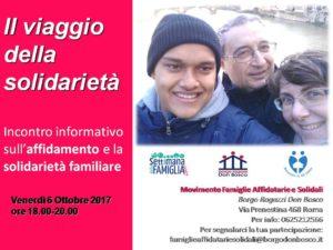 Locandina incontro informativo 6 Ottobre 2017